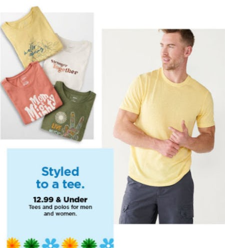 $12.99 & Under Tees & Polos for Men and Women from Kohl's
