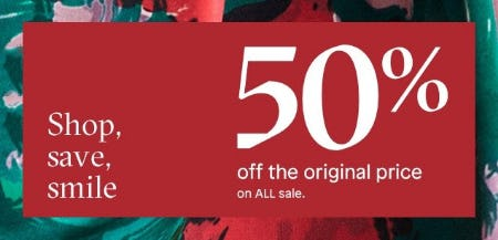 50% Off The Original Price on All Sale from ALDO Shoes