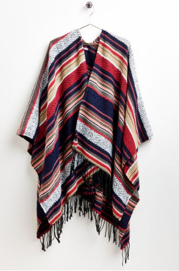 Multi Color Stripe Shawl from Earthbound Trading Company