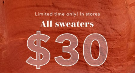 All Sweaters $30 from Aerie