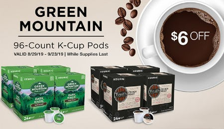 Green Mountain 96-Count K-Cup Pods at $6 Off from Costco