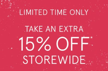 Take an Extra 15% Off Storewide from Zales The Diamond Store