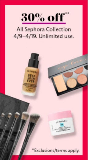 30% Off All Sephora Collection from Sephora