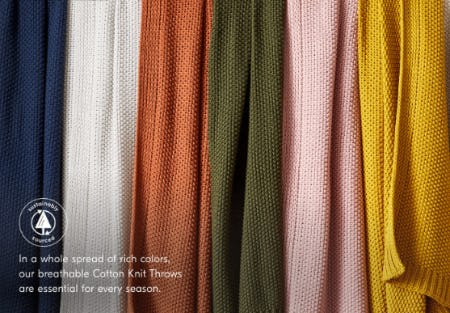 Cotton Knit Throws from West Elm