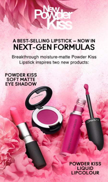 New Powder Kiss Formulas for Lips and Lids from M.A.C