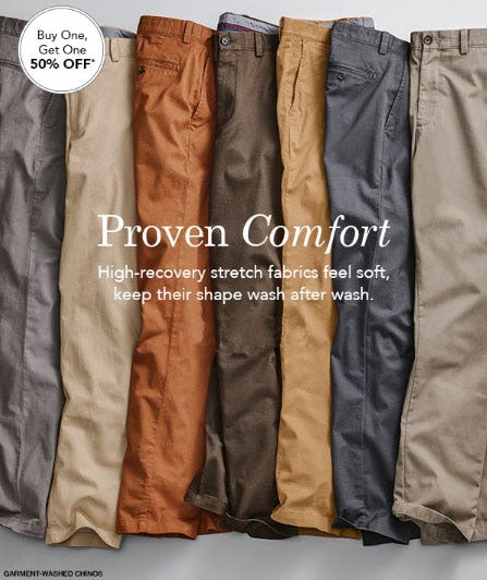 BOGO 50% Off Chinos from JOHNSTON & MURPHY