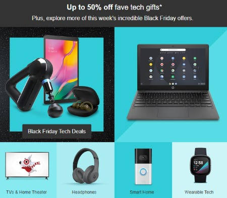 Up to 50% Off Black Friday Tech Deals from Target