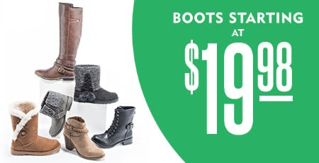 Boots Starting at $19.98