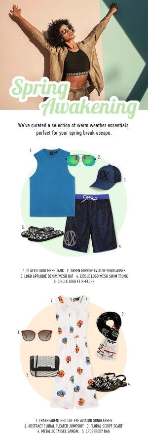 Shop These Warm Weather Essentials from A|X Armani Exchange