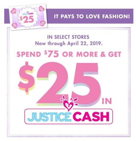 $25 in Justice Cash