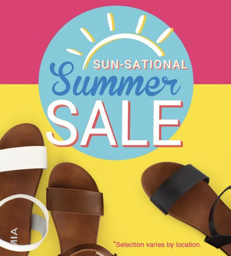Sun-Sational Summer Sale! from SHOE DEPT. ENCORE