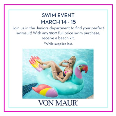 Swim Event from Von Maur
