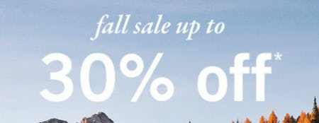 Fall Sale up to 30% Off from Abercrombie Kids