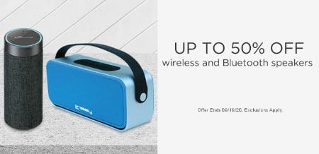 Up to 50% Off Wireless and Bluetooth Speakers from Sears