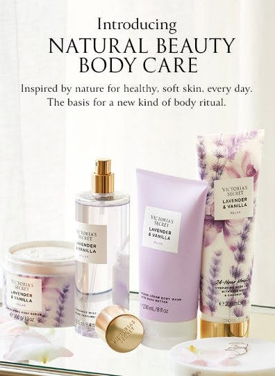 Introducing: Natural Beauty Body Care from Victoria's Secret