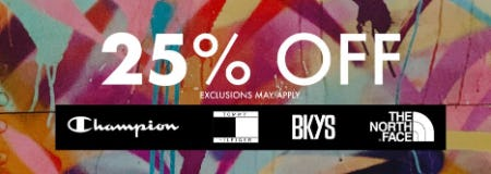 25% Off Select Items from EbLens Clothing and Footwear