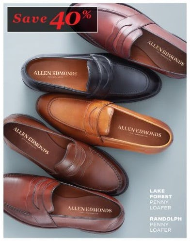 Up to 40% Loafers and Slip-ons from Allen Edmonds