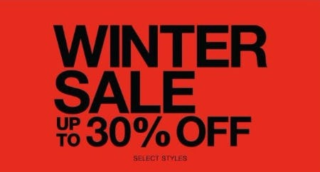 Winter Sale up to 30% Off