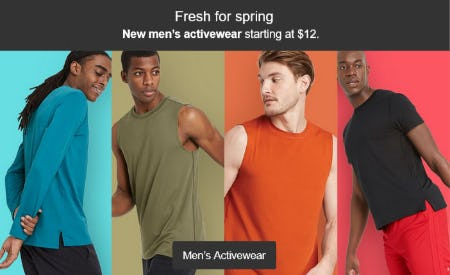 New Men's Activewear Starting at $12 from Target