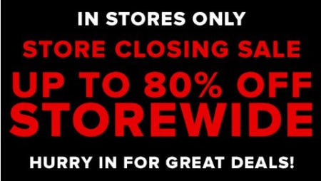 Store Closing Sale: Up to 80% Off Storewide from New York & Company