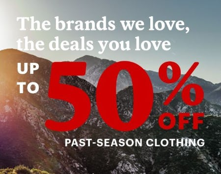 Up to 50% Off Past-Season Clothing from REI