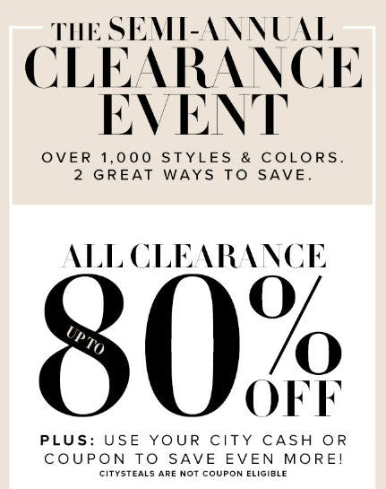 The Semi-Annual Clearance Event from New York & Company