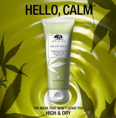 The Hello, Calm Refreshing & Hydrating Face Mask from Origins