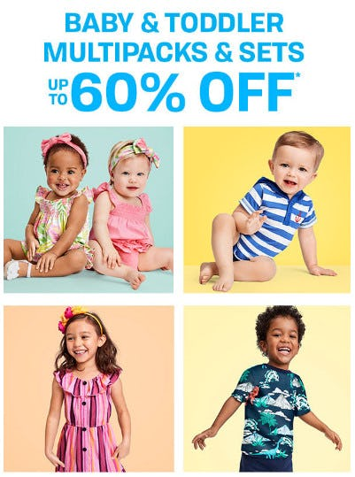 Baby & Toddler Multipacks & Sets up to 60% Off