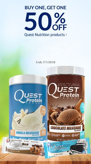 BOGO 50% Off Quest Nutrition Products from The Vitamin Shoppe