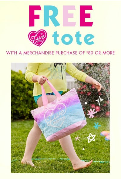 Free Tote with a Merchandise Purchase of $80 or More