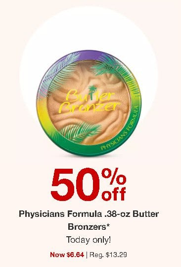 50% Off Physicians Formula .38-oz Butter Bronzers from Target