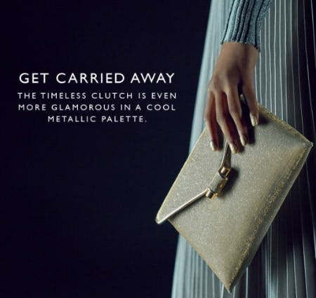 The Timeless Clutch in a Cool Metallic Palette