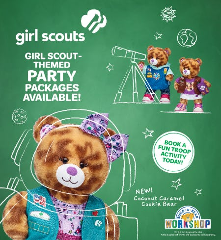 Book Your Girl Scout-Themed Party Package at Build-A-Bear Workshop!®