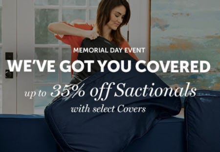 Up to 35% Off Sactionals with Select Covers