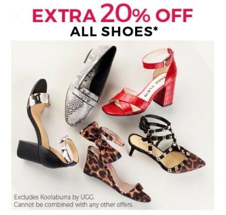 Extra 20% Off on All Shoes from Stein Mart