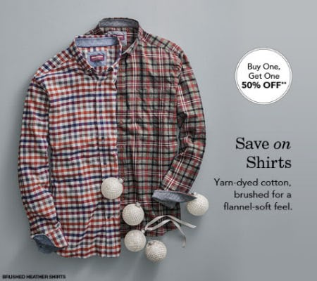 BOGO 50% Off Shirts