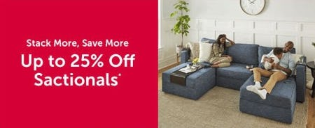 Up to 25% Off Sactionals from Lovesac Alternative Furniture