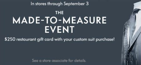 The Made-to-Measure Event