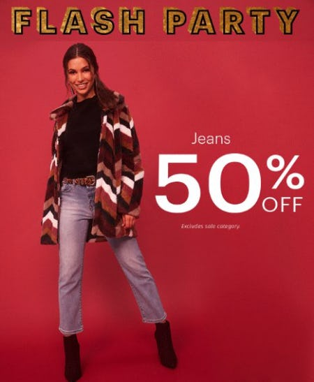 Jeans 50% Off from Charlotte Russe