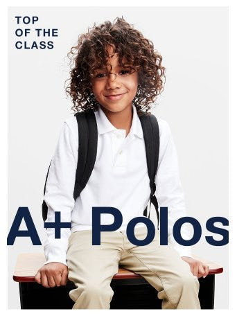 Soft and Stretchy Polos for School from Gap
