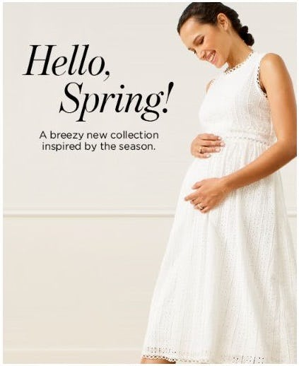 New Spring Arrivals from A Pea In The Pod, Maternity Redefined
