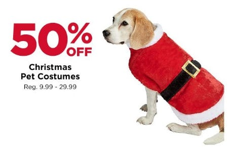 50% Off Christmas Pet Costumes from Michaels