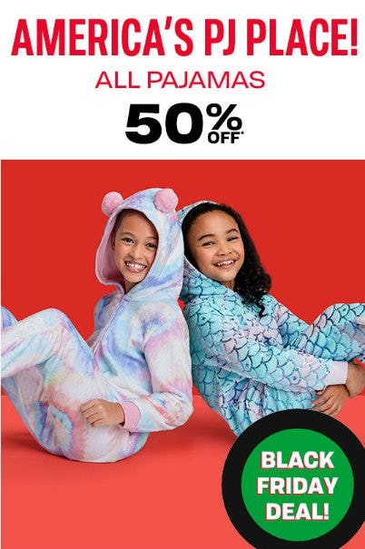 All Pajamas 50% Off from The Children's Place Gymboree