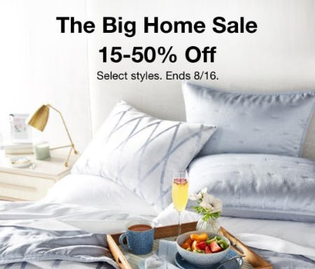 The Big Home Sale: 15-50% Off