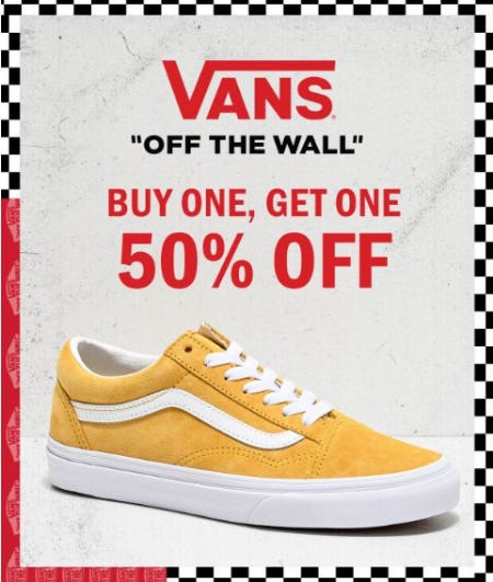 Vans Buy One, Get One 50% Off