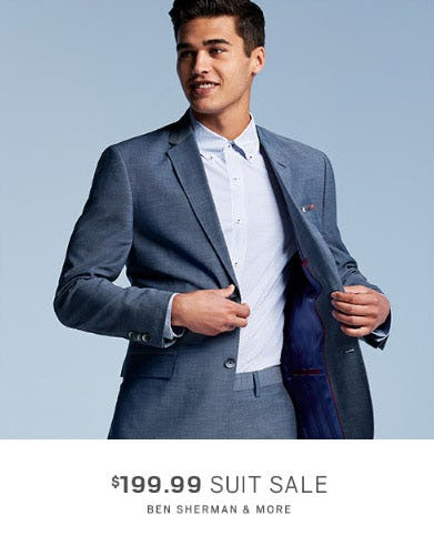 $199.99 Suit Sale from Men's Wearhouse