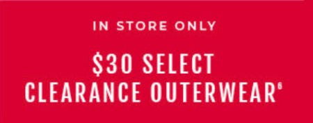$30 Select Clearance Outerwear from Torrid