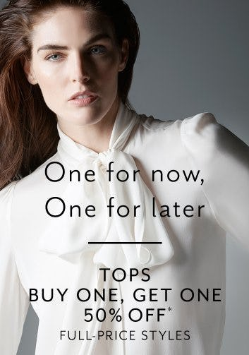 Tops Buy One, Get One 50% Off from White House Black Market