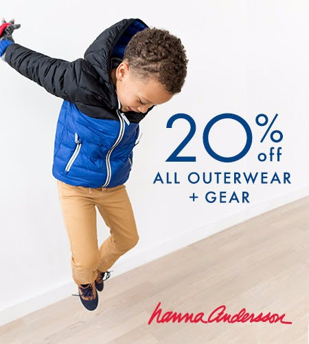 20% off all outerwear + gear