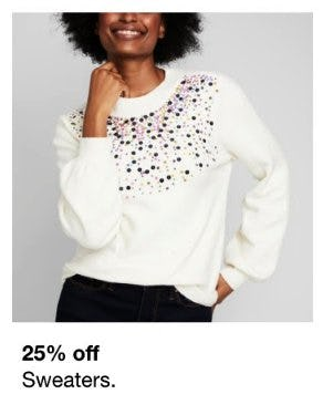 25% Off Sweaters from macy's